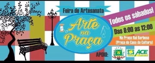 Arte na Praça - Artesanato local