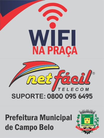 Placa do Programa WiFi na Praça